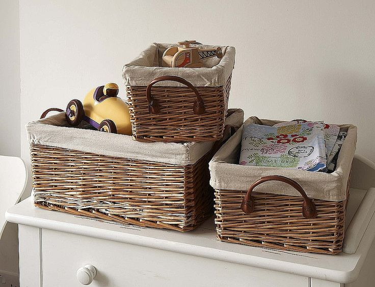 Practical storage for the home; these wicker baskets are perfect for the bathroom, kitchen or bedroom.