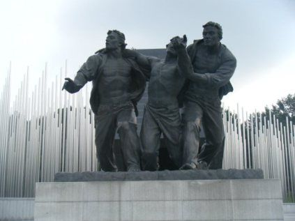 May 18 Memorial Statue - In Gwangju, South Korea, you can visit this moving memorial to the  May 18 massacre that was the beginning of the democratic process in Korea.