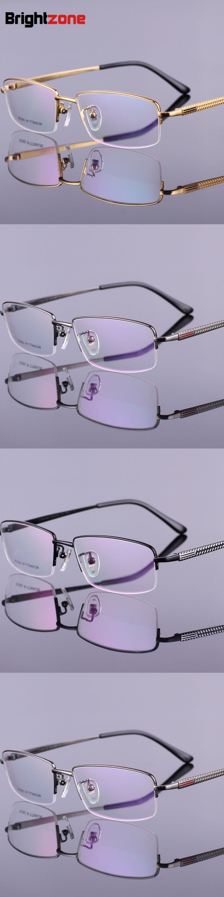 Pure Titanium Myopia Spectacle Frame Men's Half Frame Exceed Light Business Affairs New Pattern On New Promotion Pure Titanium