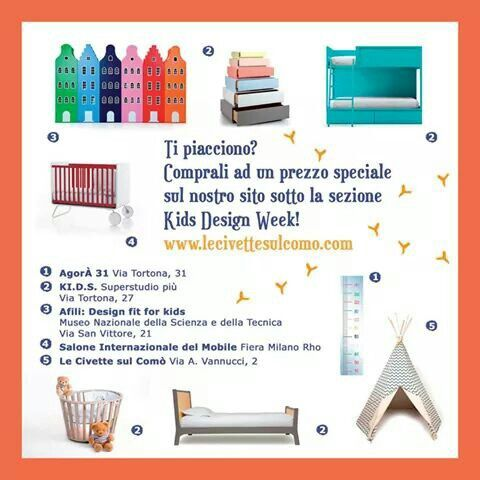 Kids design week in Milano #Popupshopcivette #lecivettesulcomo #expo2015 #milano