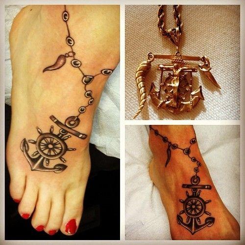 Anchor tattoo on the feet. #tattoo #tattoos #ink #inked