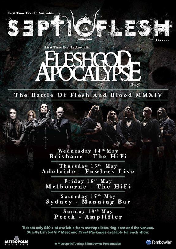 Septicflesg / Fleshgod Apocalypse Australian Tour Poster 2014.