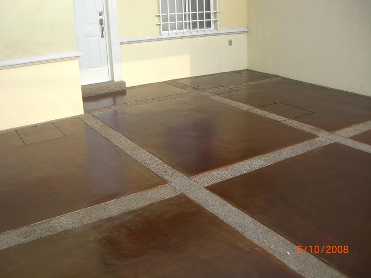 M s de 25 ideas incre bles sobre concreto oxidado solo en for Pisos para cochera