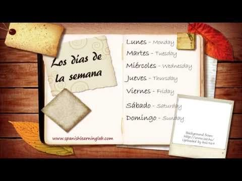 Days of the week in Spanish: pronunciation + useful phrases.  In this lesson you will listen to several mini conversations about Spanish days of the week, some useful phrases and a main conversation to practice your listening skill in Spanish. Esperamos sea de utilidad para ti.