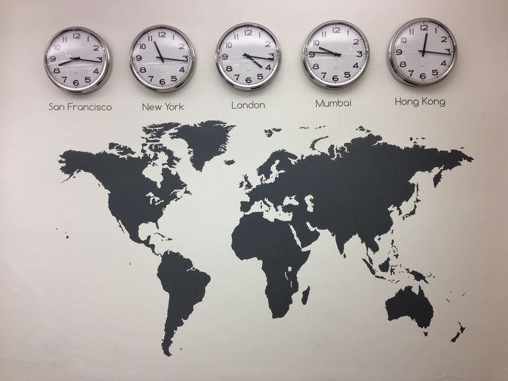 www.vinylimpression.co.uk Why not mix our map with some clocks to show different time zone that reflect your business. #decals and #graphics