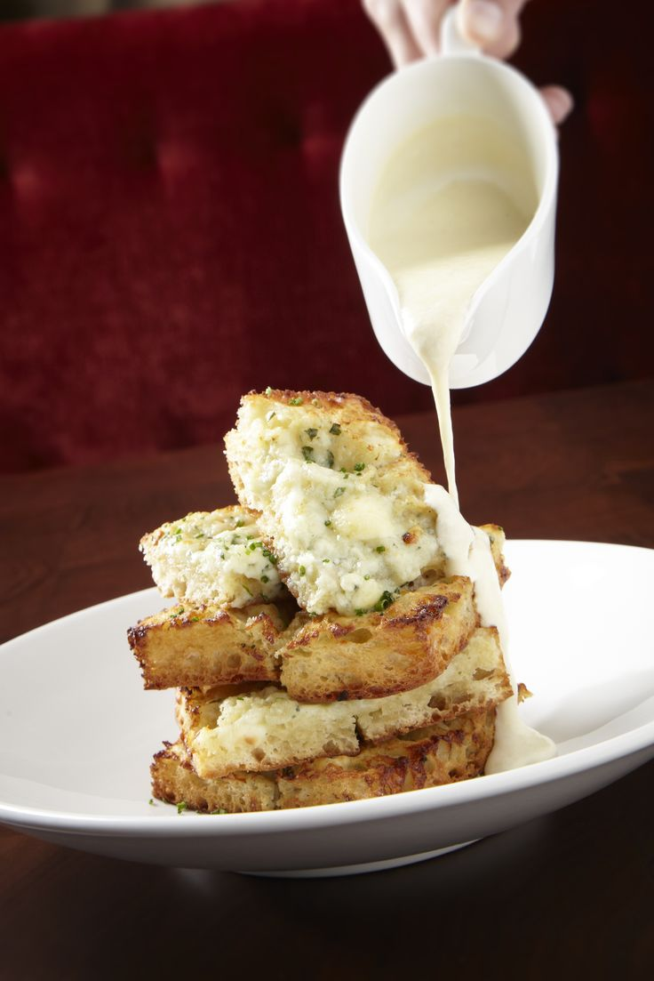 Your meal is not complete without garlic bread at Michael Jordan's Steakhouse