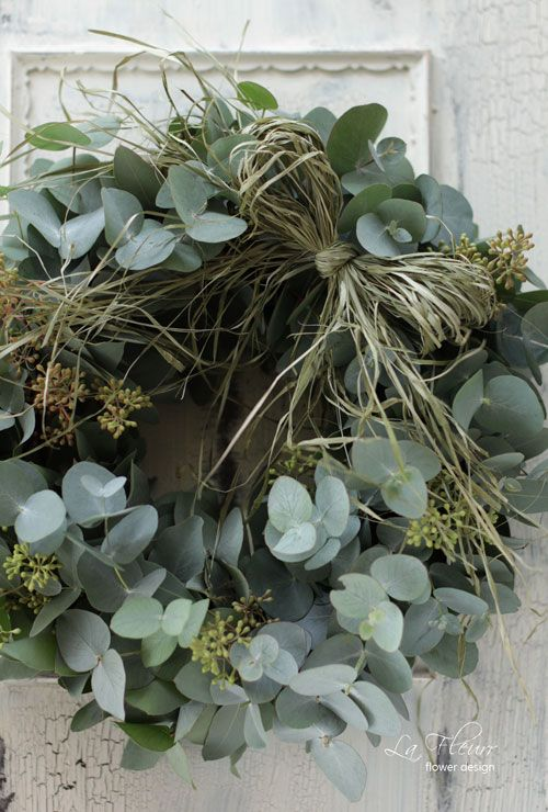 Eucalyptus wreath, decor, home, decoration, DIY, holiday door decor