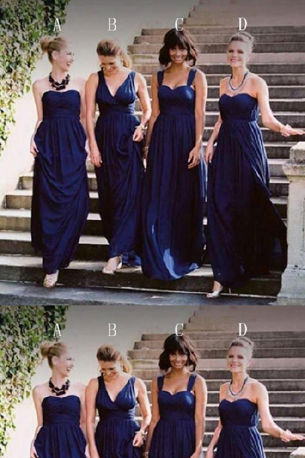 Mismatched Bridesmaid Dresses Dark Royal Blue Jersey Long In 2018 Pinterest
