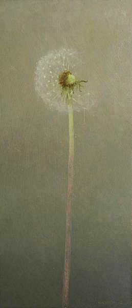 Overblown | Tags: art, still life, painting, contemporary, dandelion seeds