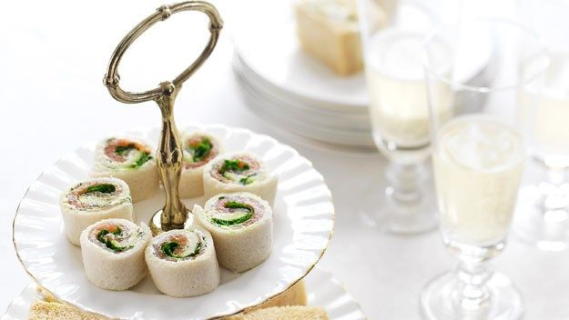 Salmon and herbed cream cheese pinwheels