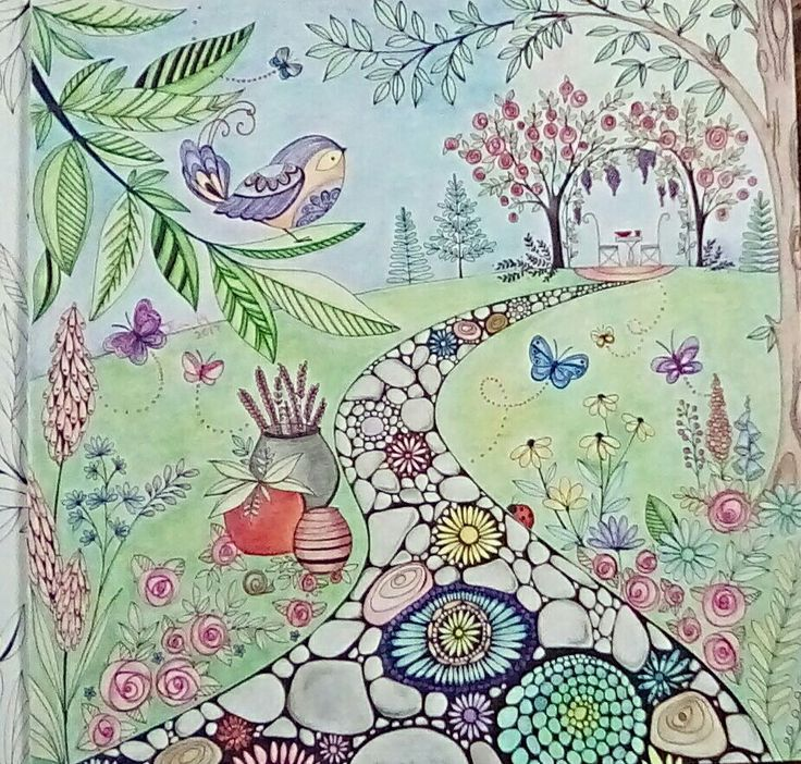Garden Path Joyous Blooms To Color Adult Coloring