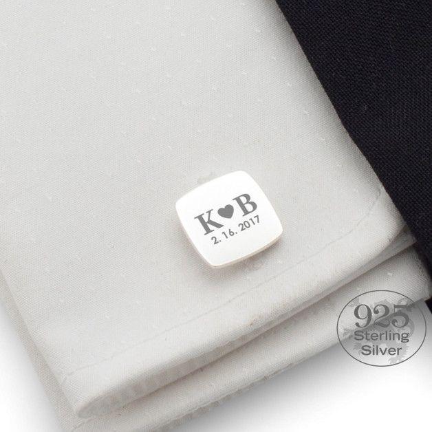 Manschettenknöpfe - Manschettenknöpfe individuell   silber   LOVE - ein Designerstück von ZaNa-Design bei DaWanda