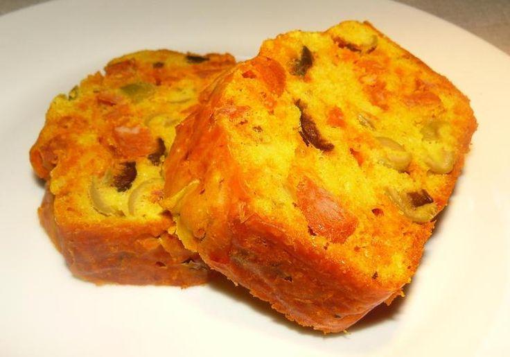 Cake au chorizo et aux olives : la recette facile