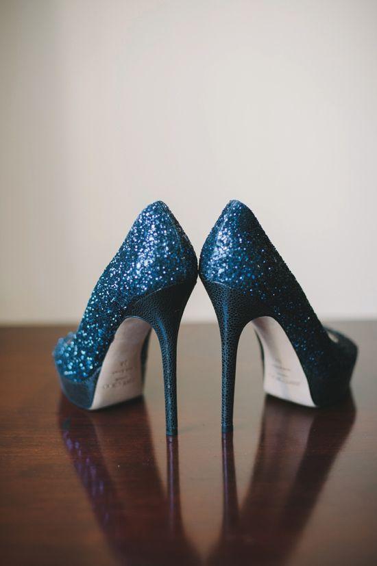 Blue. glitter. Jimmy Choo.