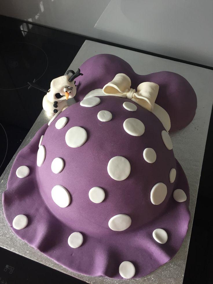 Babybauch Torte mit Olaf