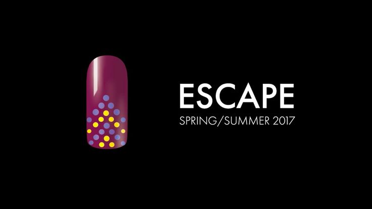 Escape Nail Art 105 with SHIELD Gel polish