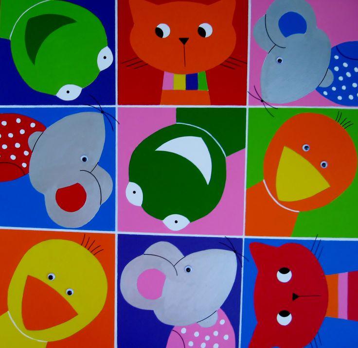 61 best kinderkamer schilderijen & kinderkamer kunst images on, Deco ideeën