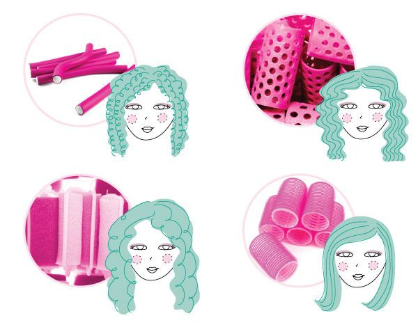 """Thin, flexible rod-style rollers create spiral-shaped coils. Thermal rollers, which are heated before application, lock in a wave pattern as they cool. Soft foam rollers are used to create soft, bouncy curls. """"These are the comfiest rollers to sleep in—just protect your set with a light scarf while you snooze!"""" advises John. Lastly, velcro rollers add volume, luster, and a swooping bend at the ends."""