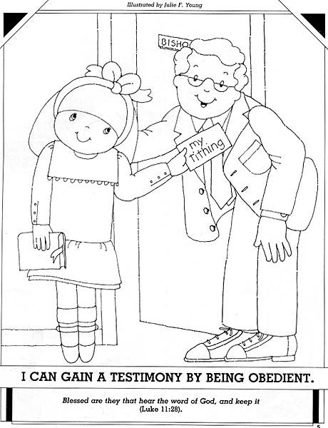 Lesson 30: I Can Be Obedient Primary 2: Choose the Right A Coloring page