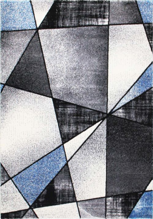 Grey abstract area rug designed in an exquisite mosaic pattern with hand-carved details, with various shades of grey and black. Designed especially for your home.#rug #arearug #home #decor #blue #black