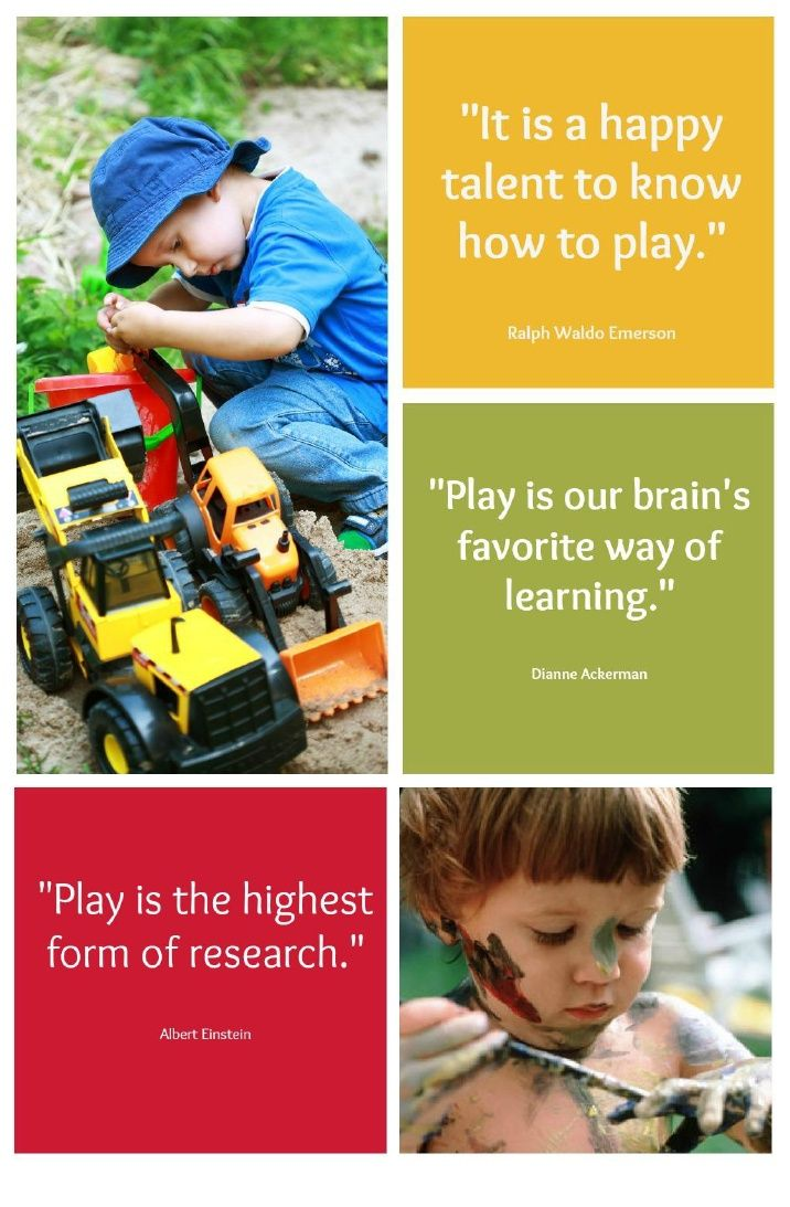 """""""It is paradoxical that many educators and parents stilldifferentiate between a time for learning and a time for playwithout seeing the vital connection between them."""" Leo F. Buscaglia"""