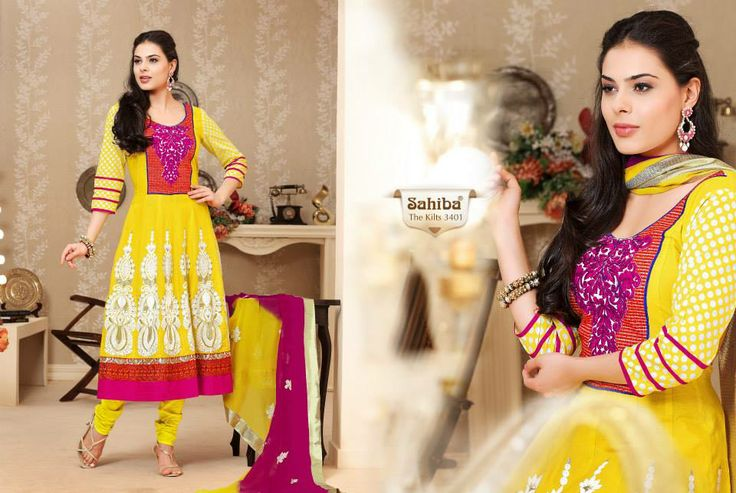 #yellowanarkali #indianwear #sahiba