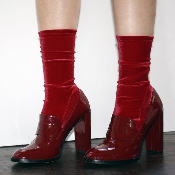How to wear: meia exposta