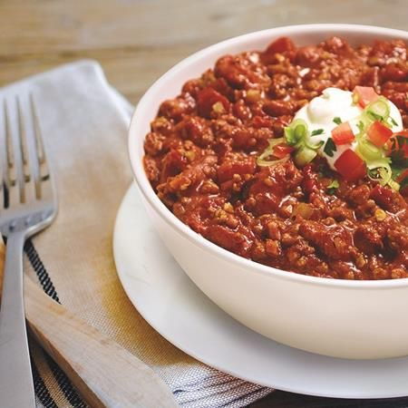 McCormick® Chili Skillet Sauce adds robust flavors to chili in one easy package.