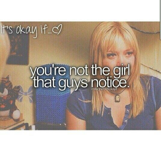 Guys don't notice me, but I just try to stay true to myself, in doing so I have made amazing friends, I learned to be more confident, and am generally more happy. So my advice is be you, Stay true to yourself, someone will notice you! Wouldn't you rather be noticed by one special person being you, or a lot of people being something you're not?