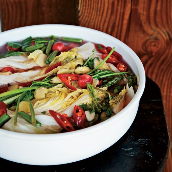 David Chang's Sparkling White Kimchi // More Great Korean Recipes: http://www.foodandwine.com/slideshows/korean #foodandwine