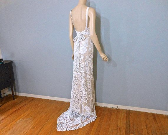 Reserved Patricia Final Payment Halter Wedding Dress Boho WEDDING Dress,White Lace Wedding Dress Sz Small