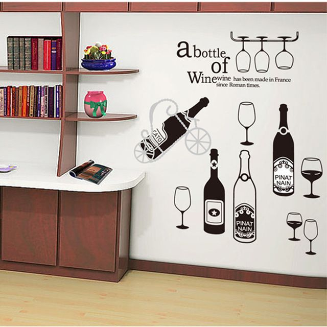 Check it on our site Modern style Restaurant Home Wine Cabinet Wall Sticker Kitchen Stickers Decorative Mural Rooms Stiker DIY Wall Decals just only $4.24 with free shipping worldwide  #wallstickers Plese click on picture to see our special price for you