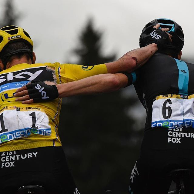 Chris Froome, Wout Poels Stage 19 TDF2016