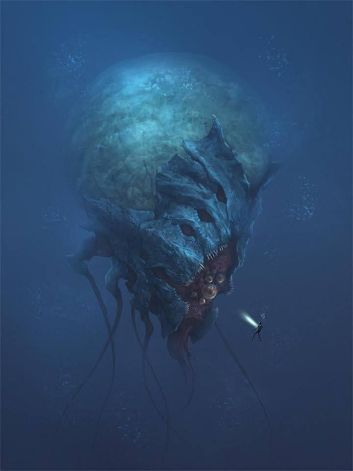 under da sea sea monsters dump inspired by design pinterest