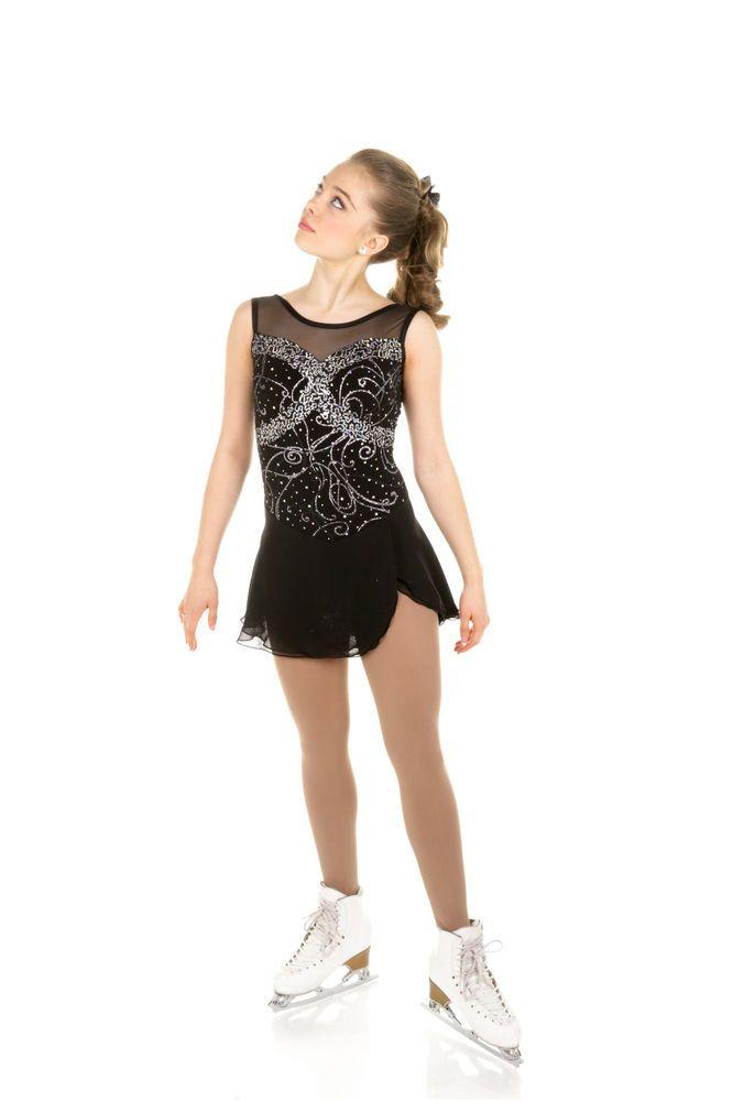 New Elite Xpression Figure Skating Dress D295-BK Made on Order | eBay