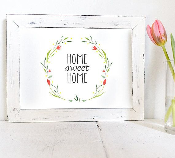 Home Sweet Home Printable, Home Sweet Home Print, Entry Room Decor, Hallway Print, housewarming gift, Entrance Wall Art, Instant Download