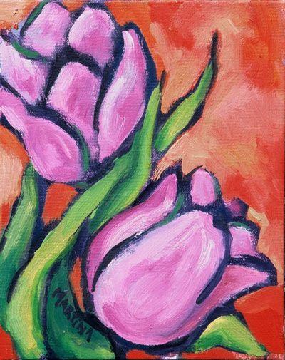 Tulip Paint Night Ideas