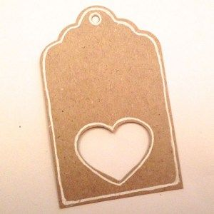Luggage Craft Tag with White Heart