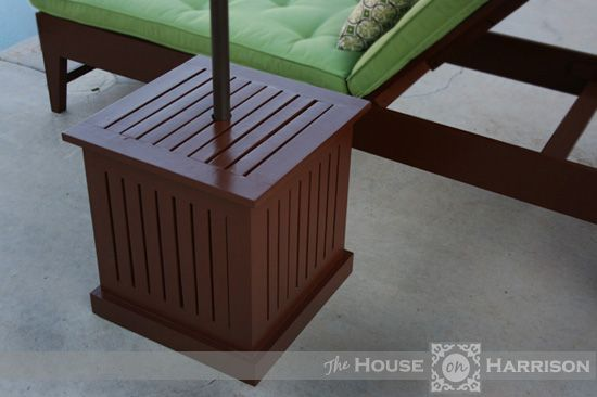 If You Build a Girl a Lounge Chair… (she's going to want an umbrella stand to go with it.)