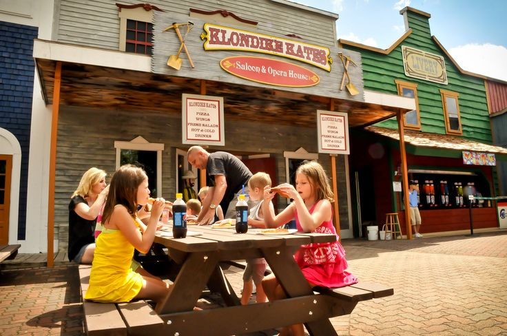 Grab a slice of pizza from Klondike Kate's located in Dawson City! Yum! Enchanted Forest Water Safari located in Old Forge, NY