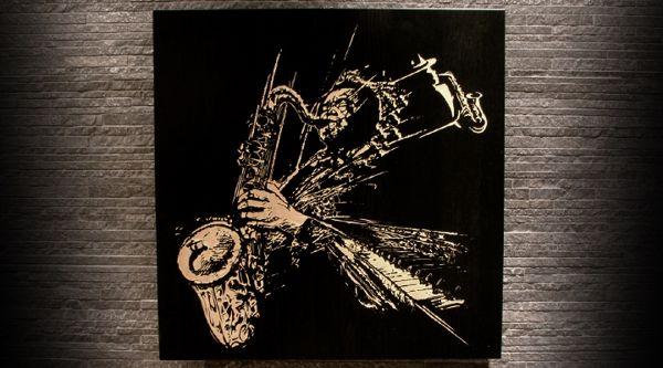 rough.sax | woodcut by teokon, via Behance