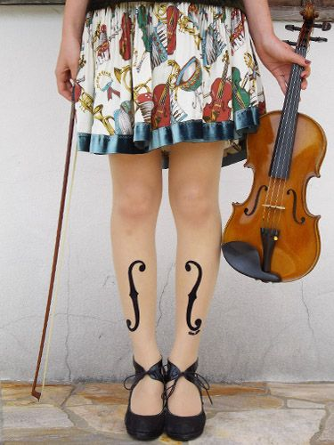 Violon d'Ingres Stocking (violin stockings of angle) - Eine Lilie'sWebShop