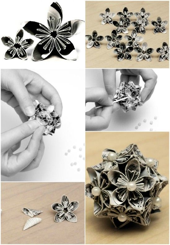 Origami Flower Ball - 20 Hopelessly Adorable DIY Christmas Ornaments Made from Paper