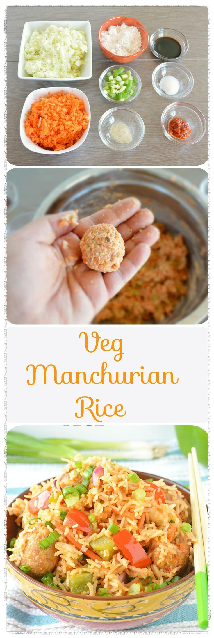 Mixed vegetable balls along with rice is tossed in soy tomato based sauce is a popular Indo - Chinese recipe. #vegmanchurianrice (Chinese Mix Vegetables)
