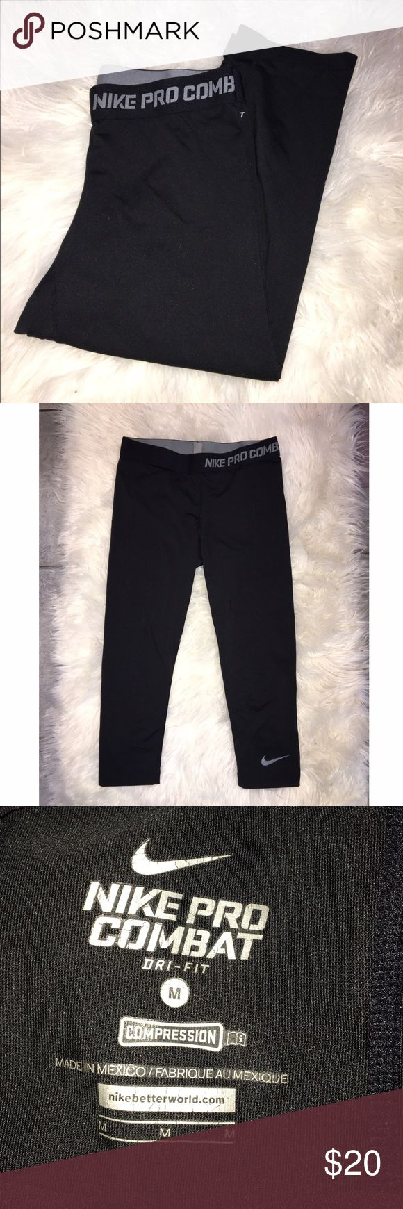 Nike Pro Combat capris In great condition! Worn only 2-3 times. These fit about mid calf! Nike Pants Leggings