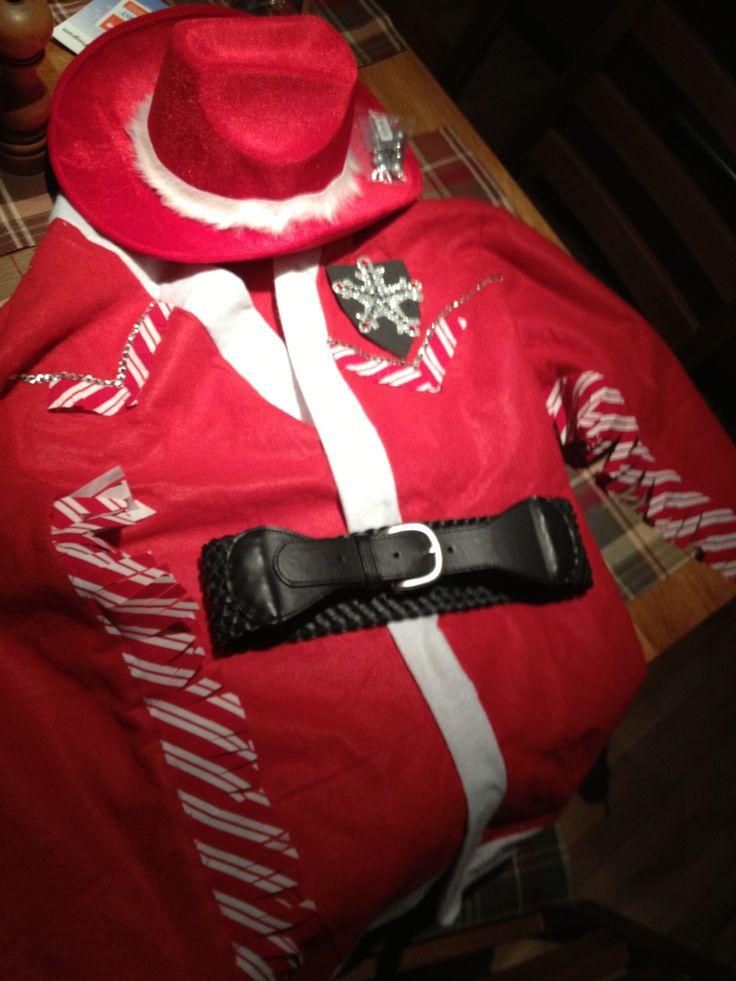 Habit de cowboy de Noël pour une fête costumée