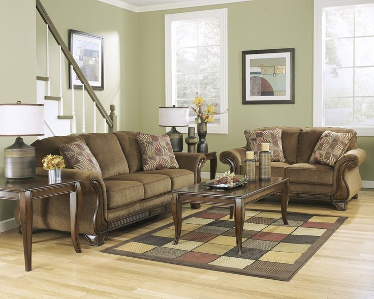 Montgomery   Mocha Stationary Living Room Group By Ashley (Signature Design