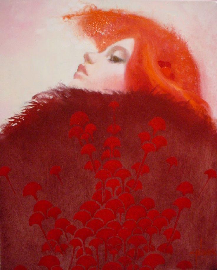 Felix Mas: But Felix, Mas Art, Spanish Artists, Art Inspiration, Resplend Redheads, Famous Artists, Paintings Woman, Artists Felix, Feathers Good