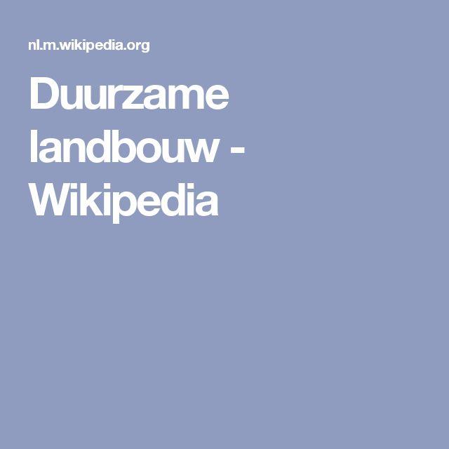 Duurzame landbouw - Wikipedia