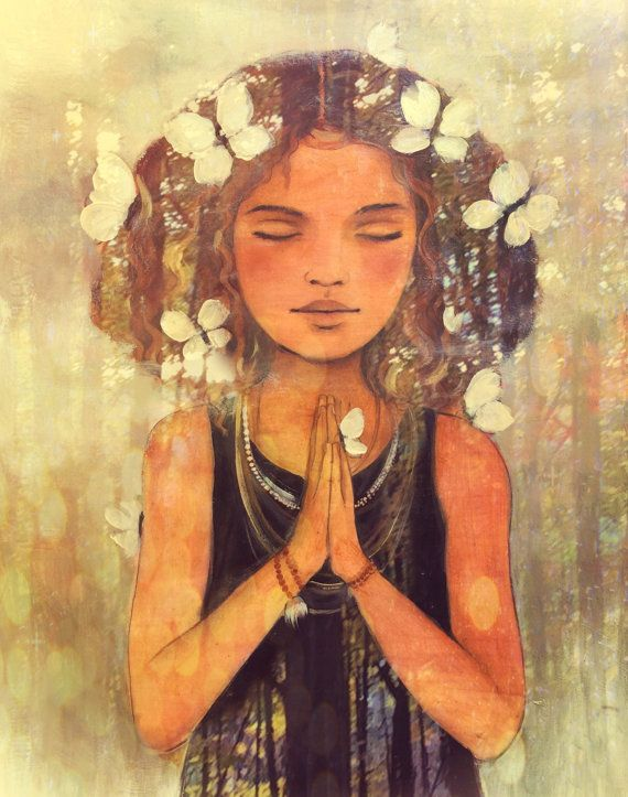 impresión por color de agua Claudia Tremblay de arte yoga